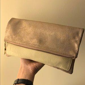 GAP Rose Gold Leather Clutch